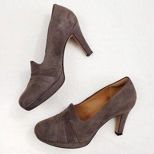 Clarks Delsie Joy Dark Taupe Heels